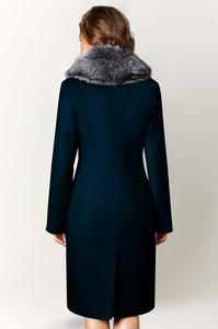 Зимнее классическое пальто с мехом арт.202